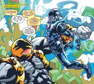 Anthony Stark (Earth-616) vs. Arsenal Beta (Earth-616) from Tony Stark Iron Man Vol 1 7 001
