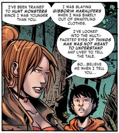 Elsa Bloodstone (Earth-616) and Kei Kawade (Earth-616) from Monsters Unleashed Vol 3 6 001