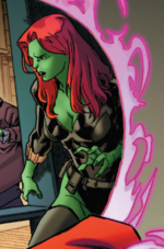 Green Widow (Warp World) (Earth-616) from Secret Warps Soldier Supreme Annual Vol 1 1 001