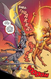 Smasher (Monster) (Earth-616) vs. Leviathon Mother (Earth-616) from Monsters Unleashed Vol 2 5 001