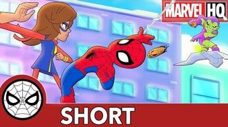 Spidey Embiggens His Brain! Marvel Super Hero Adventures - That's What Friends Are For SHORT