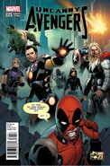 Uncanny Avengers Vol 1 25 Deadpool 75th Anniversary Variant