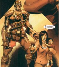Anna Ryker (Earth-616) and Bryan Ryker (Earth-616) before being killed by a Deathlok from Avengers Arena Vol 1 2
