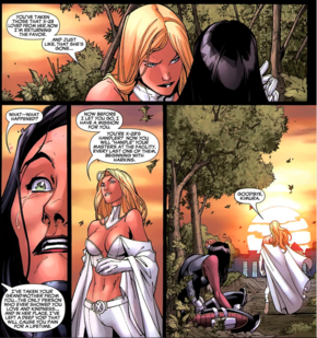 Emma Frost (Earth-616) and Kimura (Earth-616) from New X-Men Vol 2 36 0001