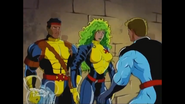 Robert Drake (Earth-92131), Lorna Dane (Earth-92131), and Forge (Earth-92131) from X-Men The Animated Series Season 3 15 001