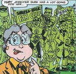 Sheeza-Hulk Fan Club, Frankenstein's Monster, Green Arrow, Green Hornet, Green Latrine , Kermit the Frog, leprechaun, Swamp-Thang, Wheezy Grunt (Earth-9047) from What The-- Vol 1 21
