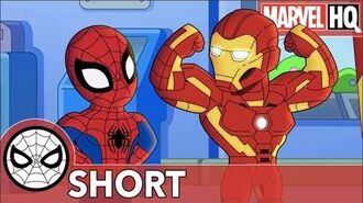 Spidey & Iron Man Clean Up Ultron Marvel Super Hero Adventures One Big Mess SHORT