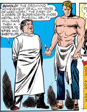 Steven Rogers (Earth-616) and Abraham Erskine (Earth-616) from Captain America Comics Vol 1 1 0001