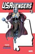 U.S.Avengers Vol 1 1 Alabama Variant