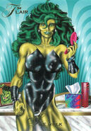 Jennifer Walters (Earth-616) from Marvel Annual Flair (Trading Cards) 1994 Set 0001