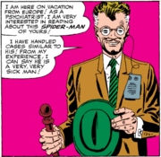 Qunetin Beck (Earth-616) as Doctor Ludwig Rinehart from Amazing Spider-Man Vol 1 24 Page 7 Panel 6