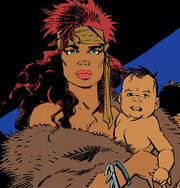Gahck (Earth-616) and Erista (Earth-616) from Wolverine The Jungle Adventure Vol 1 1 001