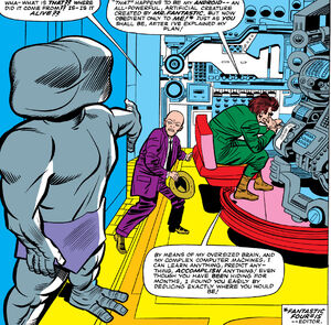 Awesome Android (Earth-616), Phillip Masters (Earth-616), and Mad Thinker (Julius) (Earth-616) from Fantastic Four Vol 1 28