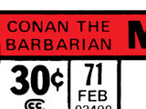 Conan the Barbarian Vol 1 71