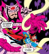 Cyttorak (Earth-616) and Stephen Strange (Earth-616) from Doctor Strange, Sorcerer Supreme Vol 1 49 001