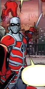 Knightpool (Earth-13415) from Deadpool Kills Deadpool Vol 1 4 0001