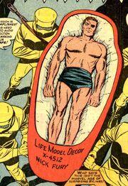 Nick Fury posing as a LMD in Strange Tales Vol 1 149
