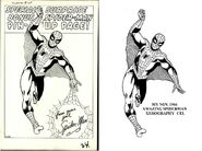 SPIDERMAN ISSUE 3 PINUP CEL OVERLAPPING EXAMPLE 0