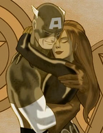 Steven Rogers (Earth-555326) and Natalia Romanova (Earth-555326) from Next Avengers Heroes of Tomorrow 0001