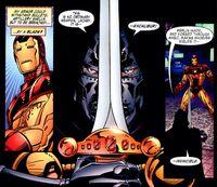 Victor von Doom (Earth-616) with Excalibur (Sword) from Iron Man Legacy of Doom Vol 1 2 001