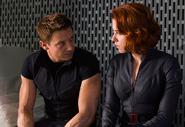 Clinton Barton (Earth-199999) and Natalia Romanoff (Earth-199999) from Marvel's The Avengers 0001