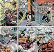 Barbara Morse (Earth-616) and Peter Parker (Earth-616) from Marvel Team-Up Vol 1 95 0001
