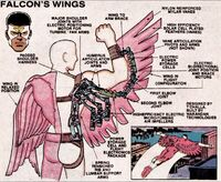 Falcon's Wings from Official Handbook of the Marvel Universe Vol 1 15 0001