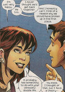Mary Jane Watson (Earth-1610) and Peter Parker (Earth-1610) from Ultimate Spider-Man Vol 1 156 0001