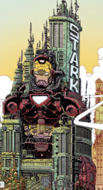 Stark Tower from 100th Anniversary Special - Avengers Vol 1 1 001