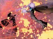 Victor von Doom (Earth-616) vs. Cynthia von Doom (Mephisto's Simulacrum) (Earth-616) from Infamous Iron Man Vol 1 5 002