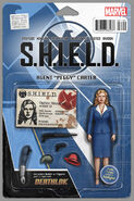 Agent Carter S.H.I.E.L.D. 50th Anniversary Vol 1 1 Action Figure Variant Cover