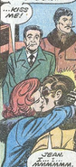 Jean Grey (Earth-616), Scott Summers (Earth-616), Stan Lee (Earth-616), and Jack Kirby (Earth-616) from X-Men Vol 1 98 0001