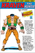 Kraven the Hunter Pin-Up from Amazing Spider-Man Annual Vol 1 1