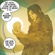 Rebecca Rodriguez (Earth-616) with the Wuxian Seed from Weirdworld Vol 2 1 001