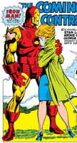 Anthony Stark (Earth-616) Iron Man and Janice Cord from Iron Man Vol 1 12