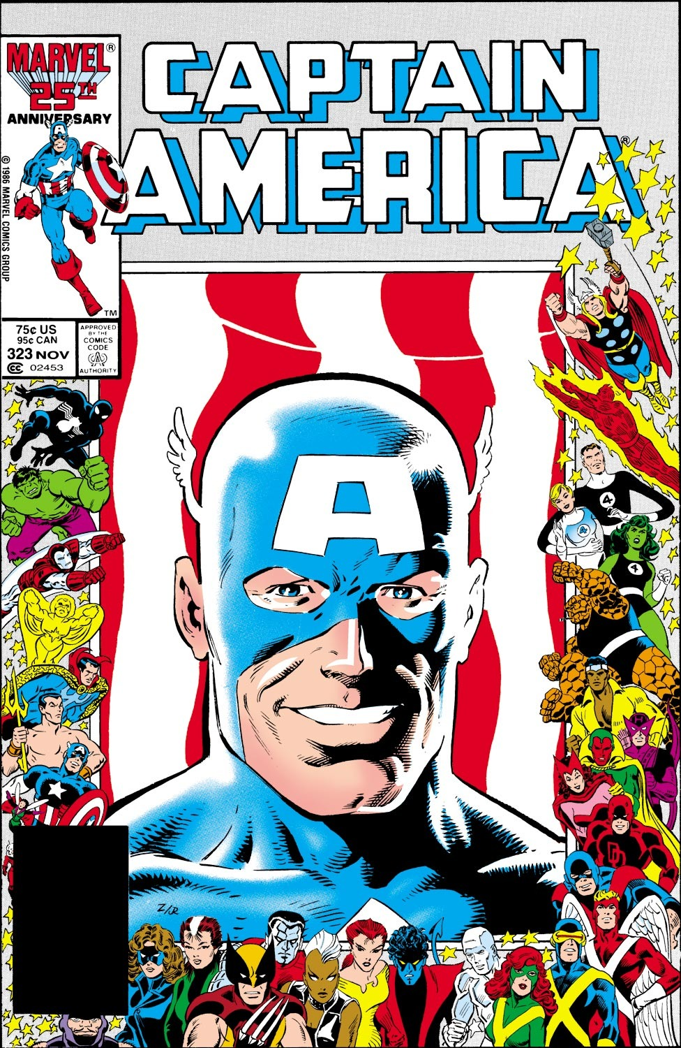 Captain America Vol 1 323 Marvel Database Fandom