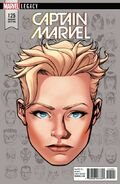 Captain Marvel Vol 1 125 Legacy Headshot Variant