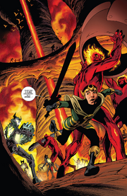 Loki Laufeyson (Kid Loki) (Earth-616) and Fire Giants from Journey into Mystery Vol 1 644 0001