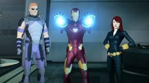Anthony Stark (Earth-904913), Clinton Barton (Earth-904913) and Natasha Romanoff (Earth-904913) from Iron Man Armored Adventures Season 2 9 001