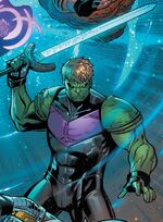 Theodore Altman (Earth-616) with Excelsior (Star-Sword) from New Avengers Vol 4 16 001