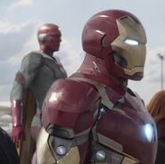 Anthony Stark (Earth-199999) and Vision (Earth-199999) from Captain America Civil War 001