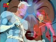 Wanda Maximoff (Earth-92131), Pietro Maximoff (Earth-92131), and Jean Grey (Earth-92131) from X-Men The Animated Series Season 2 5 001