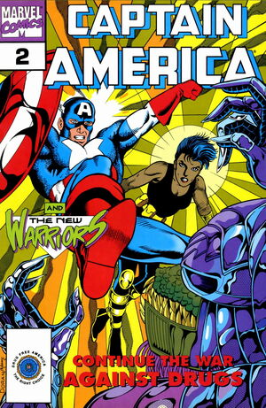 Captain America Goes to War Against Drugs Vol 1 2 0001