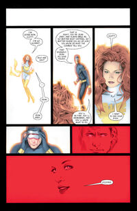 Jean Grey (Earth-616), Phoenix Force (Earth-616) and Scott Summers (Earth-616) from X-Men Phoenix Endsong Vol 1 5 0002