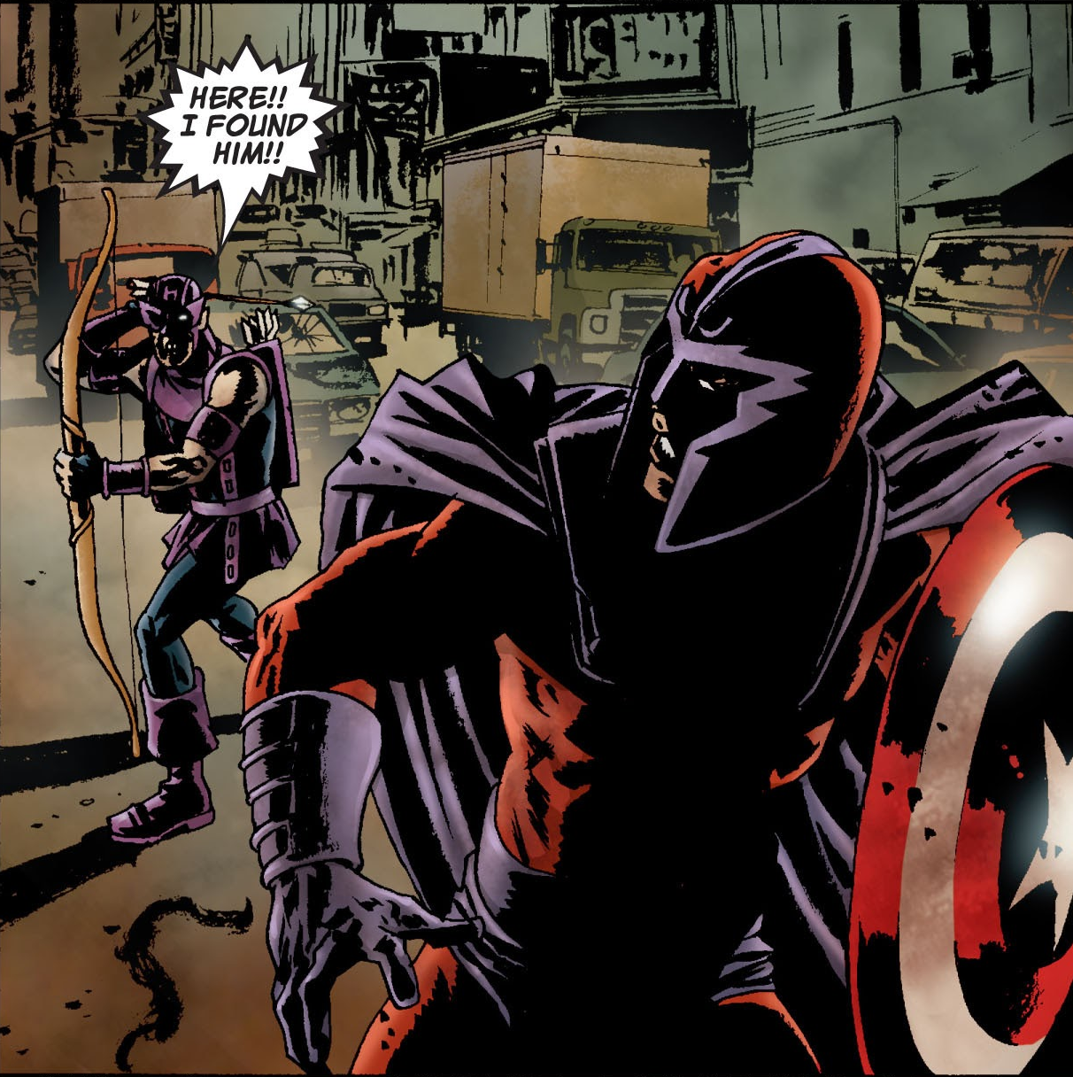 Clinton Barton (Earth-2149) and Max Eisenhardt (Earth-2149) from Marvel Zombies Vol 1 1 0001