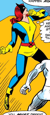Jean Grey (Earth-616) altered training costume from X-Men Vol 1 27