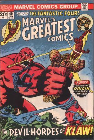 Marvel's Greatest Comics Vol 1 40