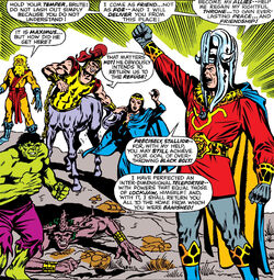Maximus (Earth-616) the Hulk and the Renegade Inhumans from Incredible Hulk Annual Vol 1 1
