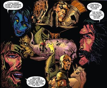 X-Men (Multiverse) talk about the Ten Evil Xaviers from X-Treme X-Men Vol 2 11