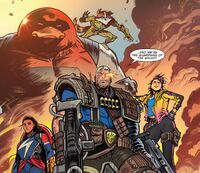 Guardians of the Galaxy (Earth-18138) from Cosmic Ghost Rider Vol 1 2 001